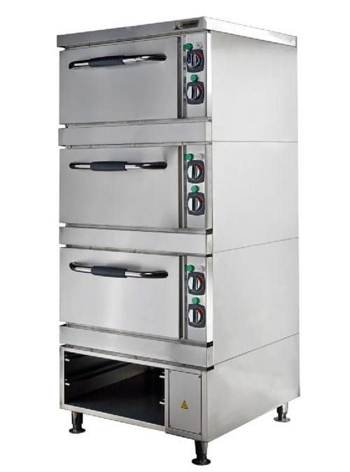 Baking and Roasting Oven, 3 Decks and Open Cabinet Image