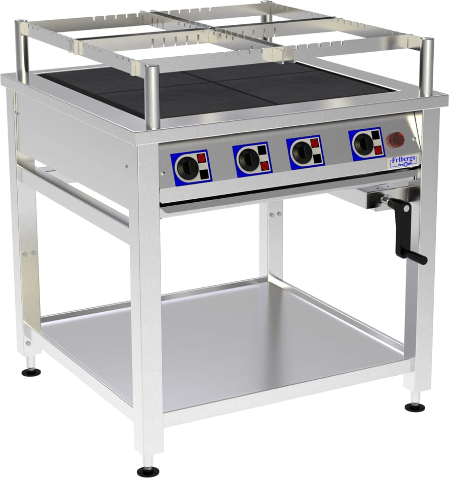 Range, 4 Hot Plates and Height Adjustable Image