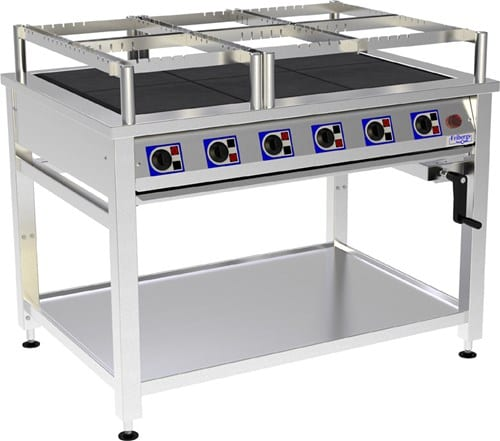 Range, 6 Hot Plates and Height Adjustable Image