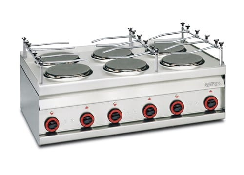 Cooking Top, 6 Hot Plates Image